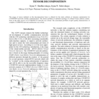 LTE/MVNO NETWORKS STRUCTURE OPTIMIZATION BASED ON TENSOR DECOMPOSITION