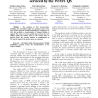 The solution to the problem of the QoS characteristics definition for self-similar traffic serviced by the W/M/1 QS